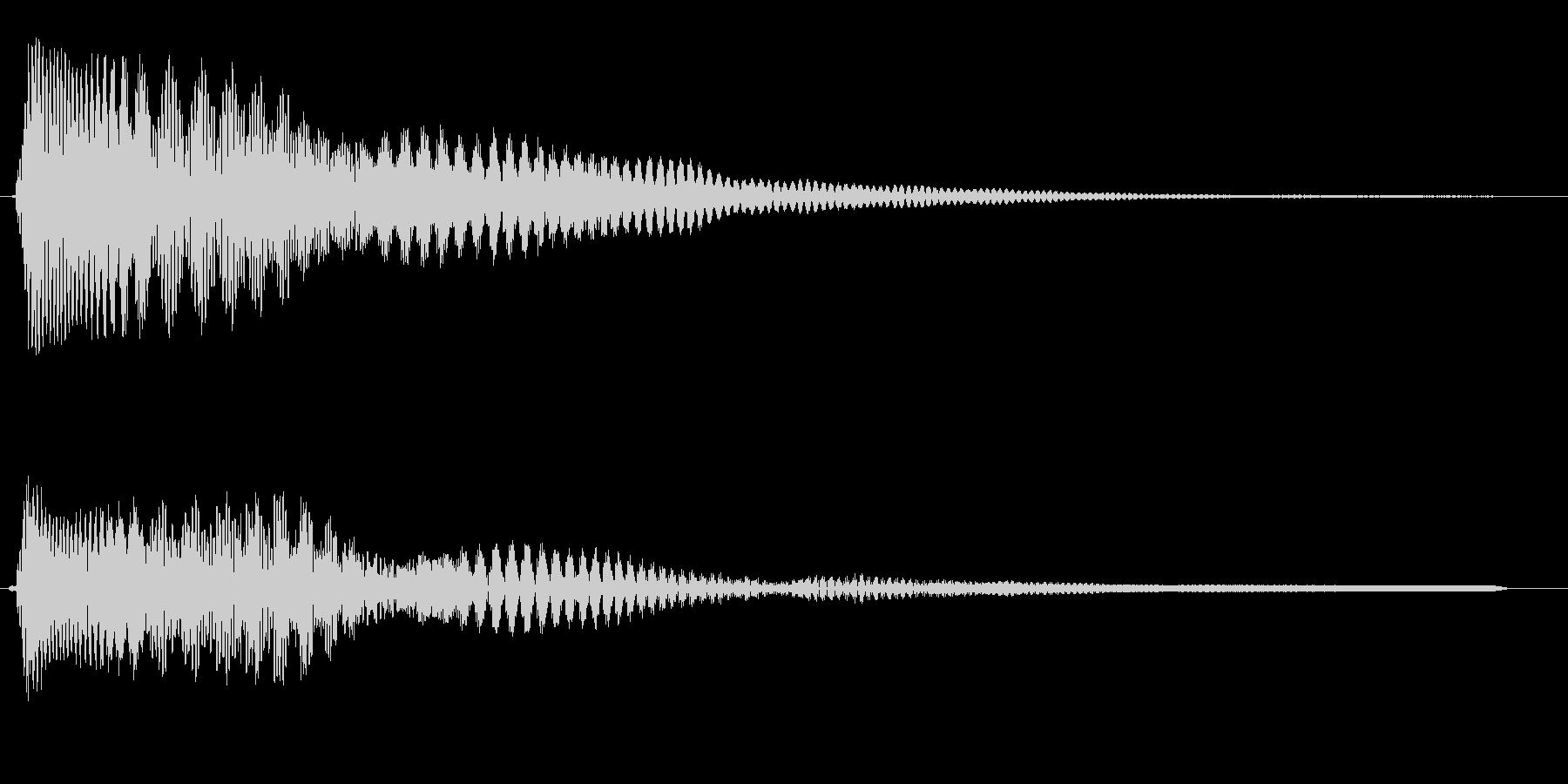 ピユー↑ン(コメディ感のある感じ)の未再生の波形