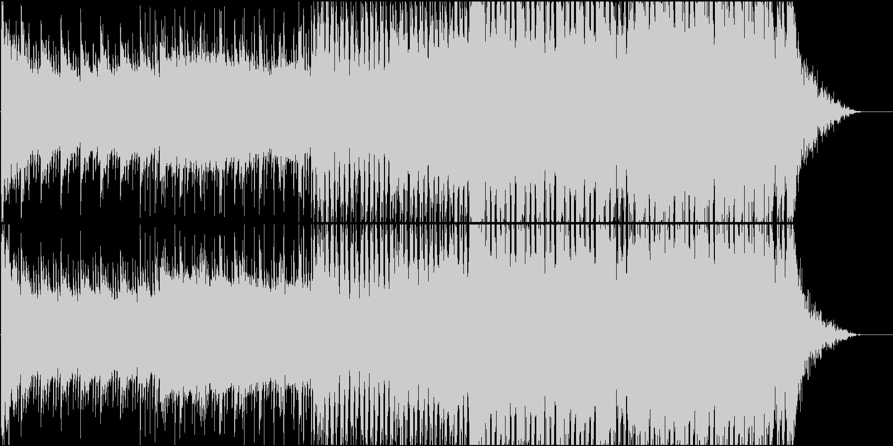 爽やかでメロディアスなEDMの未再生の波形