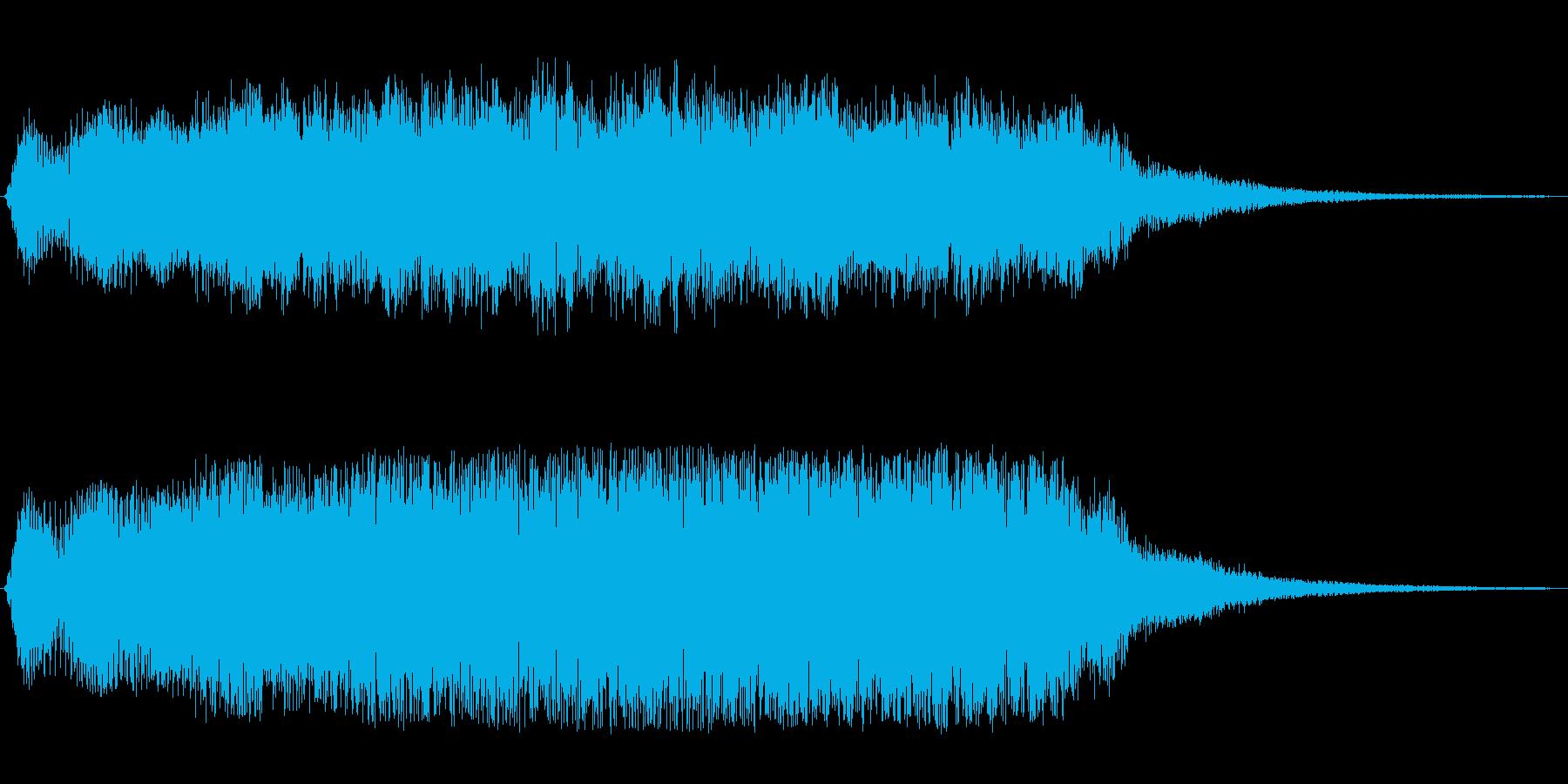 重厚感と神秘性のあるオープニング曲の再生済みの波形
