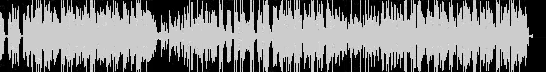 ポップロックでダイナミックな曲の未再生の波形