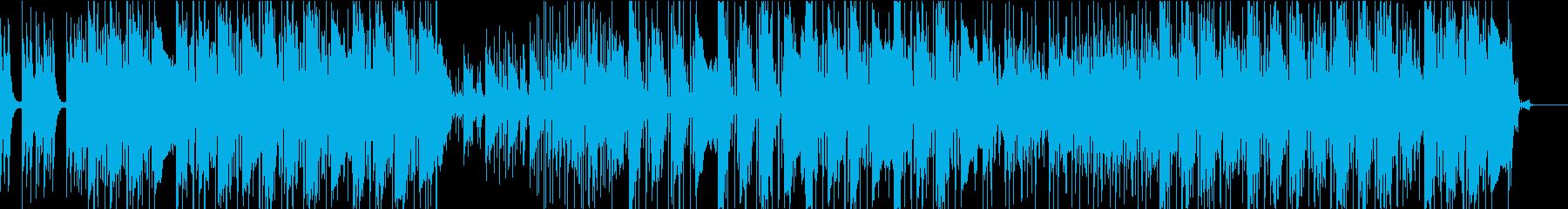 ポップロックでダイナミックな曲の再生済みの波形