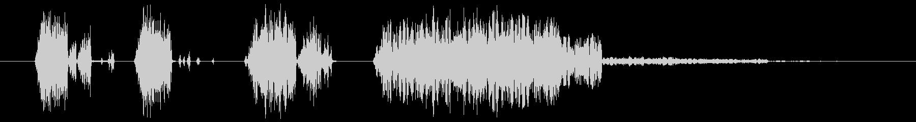 ショートスパッタ2の未再生の波形