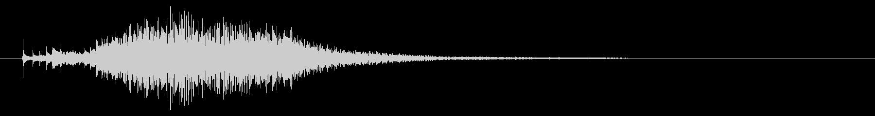 ハープのグリッサンド2の未再生の波形