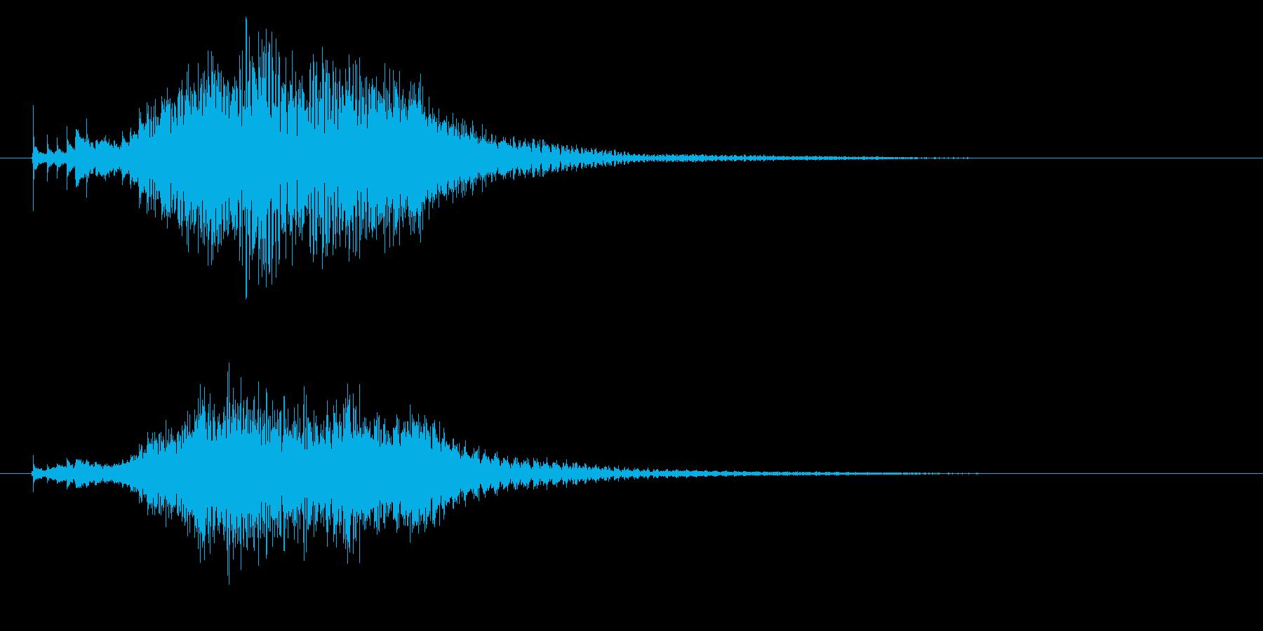 ハープのグリッサンド2の再生済みの波形