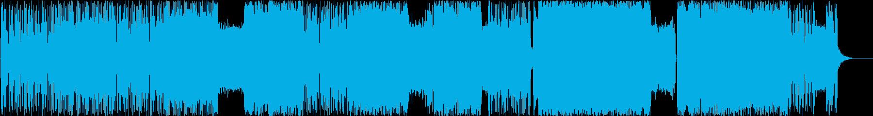 激しく疾走感のあるグランジメタルの再生済みの波形