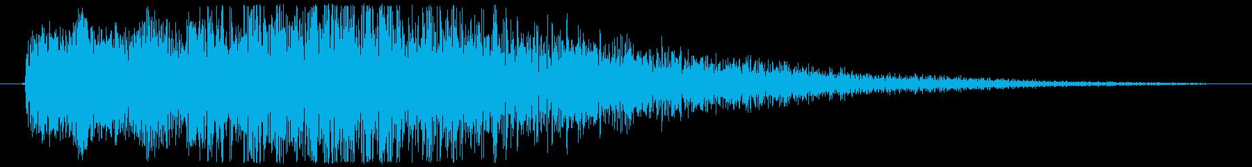 【ギター攻撃(中)】キュウゥーン!の再生済みの波形