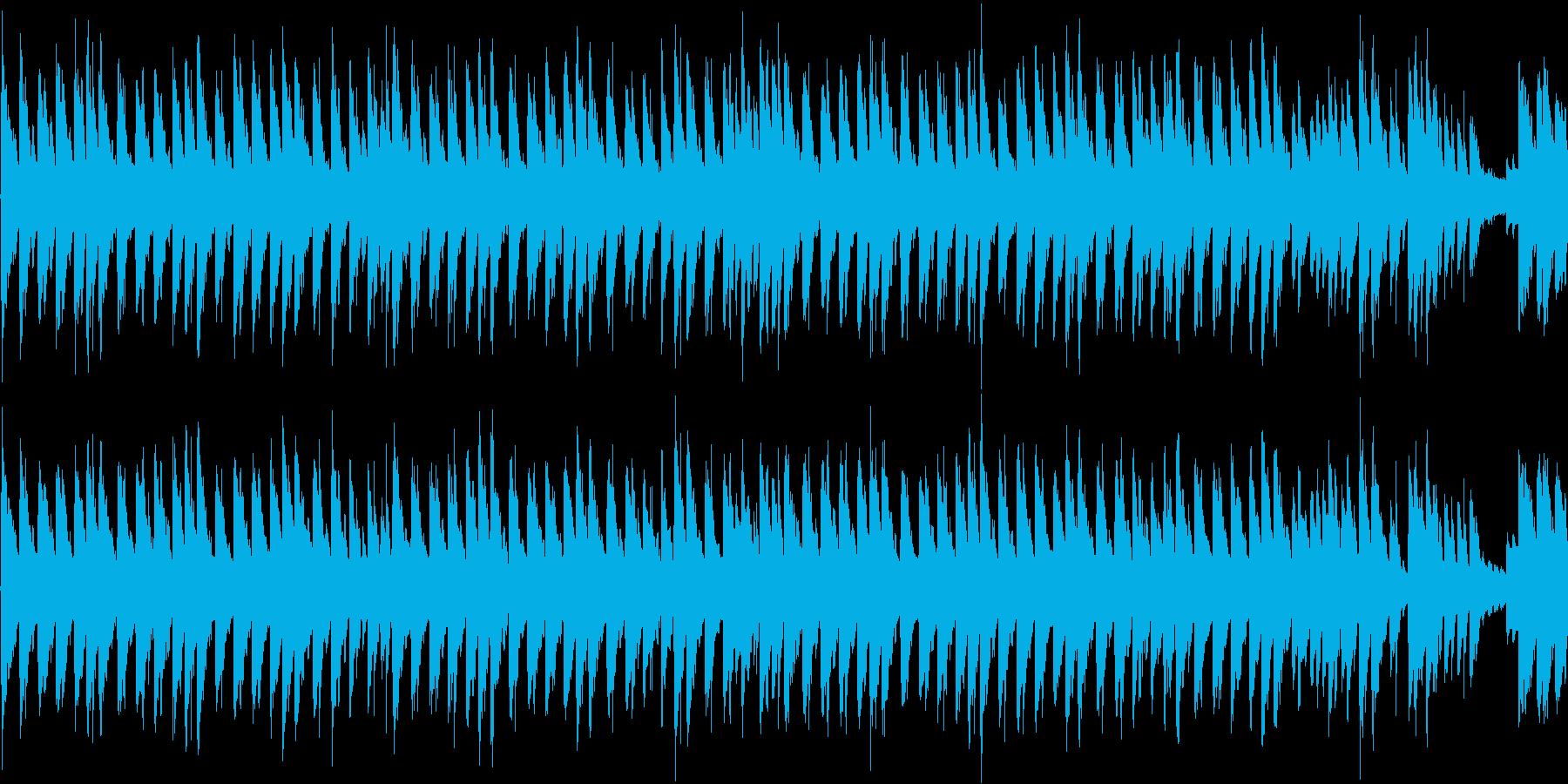 ループ素材。の再生済みの波形