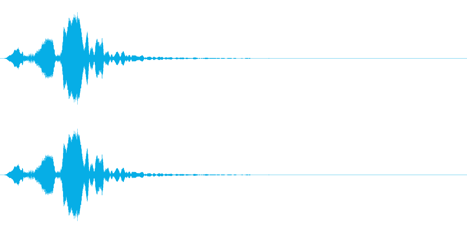 ホイッスルの音_04(ピッ)の再生済みの波形