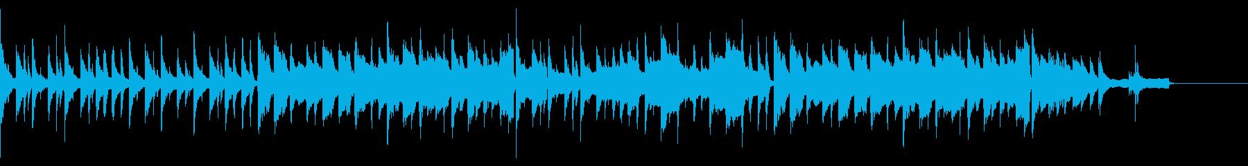 少し速めの中世吟遊詩人風。リュートと弦の再生済みの波形