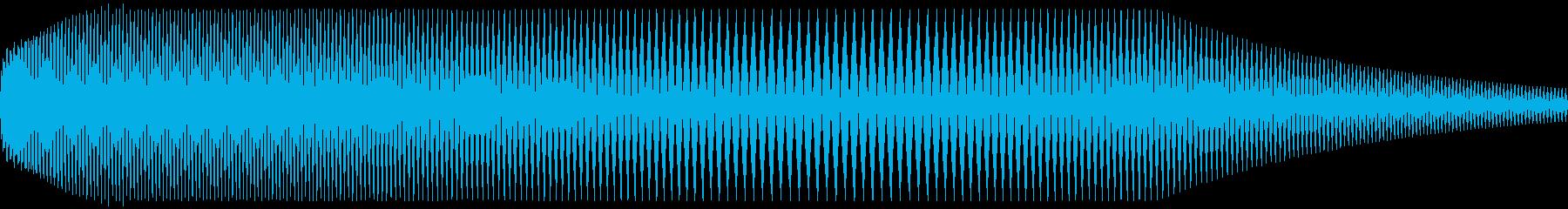 キュウィン⤵⤴の再生済みの波形