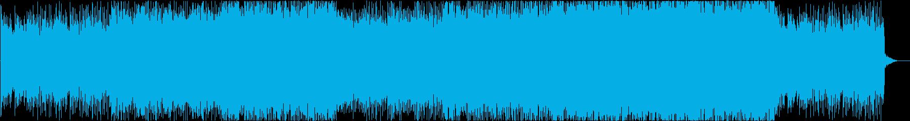 ダークでミステリアスなアクション系劇伴の再生済みの波形