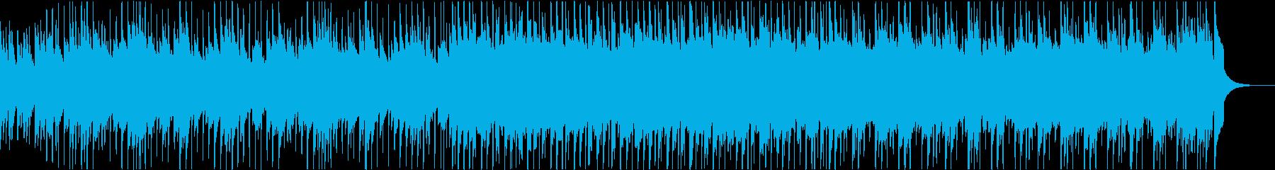 和風の軽快で爽やかな四つ打ちポップスの再生済みの波形
