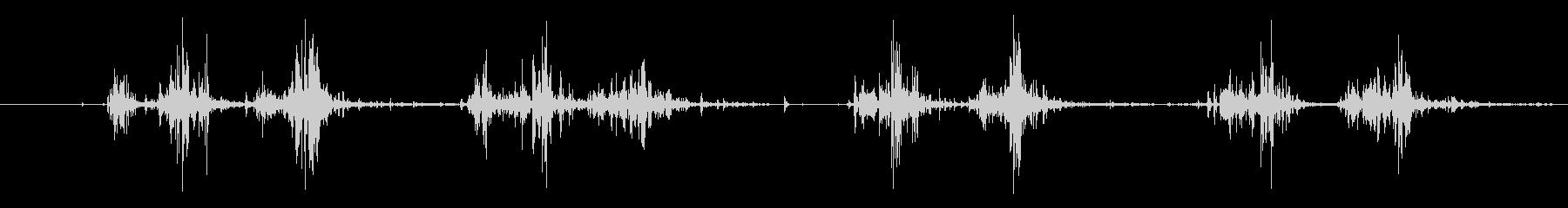 タブレッド菓子を出す音1 ステレオの未再生の波形