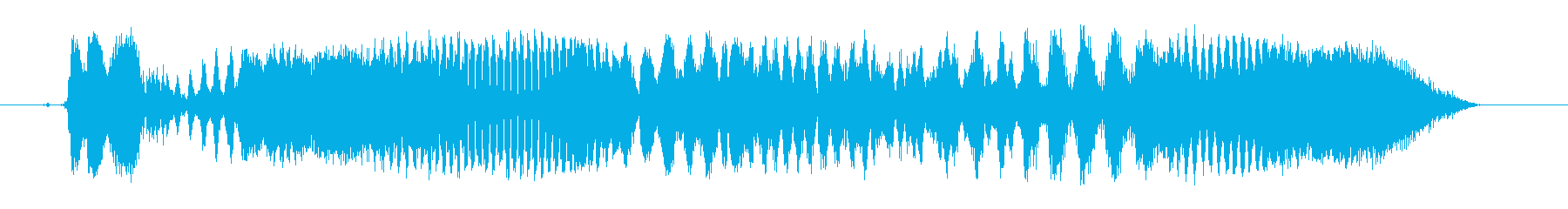 怒っているサイバースイープ2の再生済みの波形