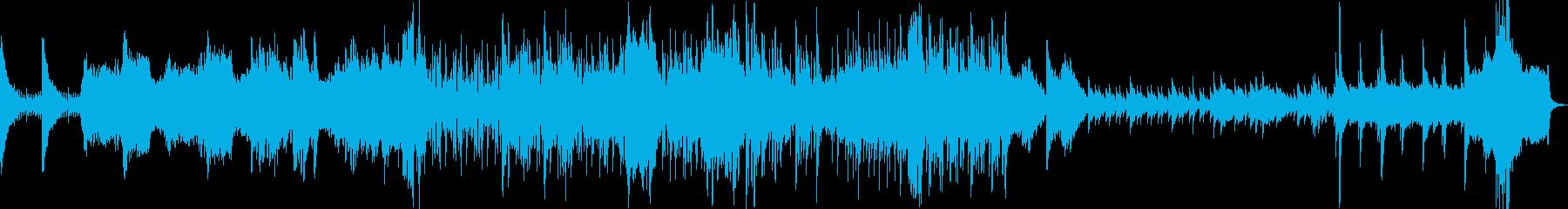 神聖で不気味なホラー曲の再生済みの波形
