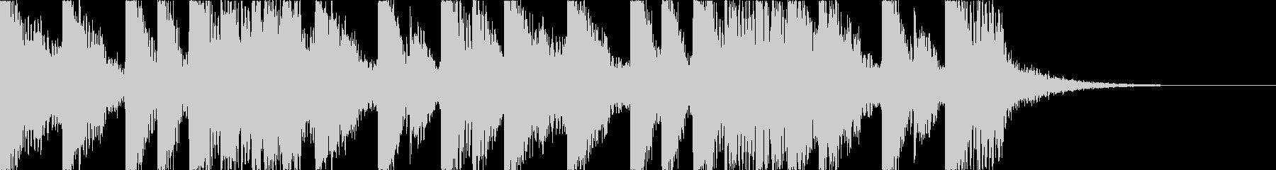 攻撃的でダークなEDMの未再生の波形
