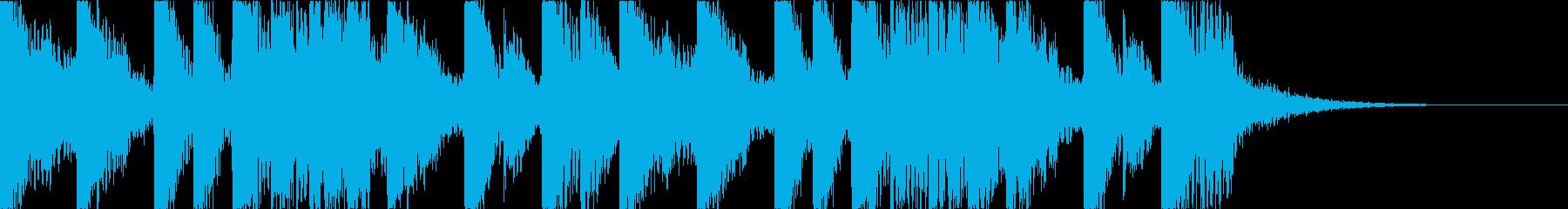 攻撃的でダークなEDMの再生済みの波形