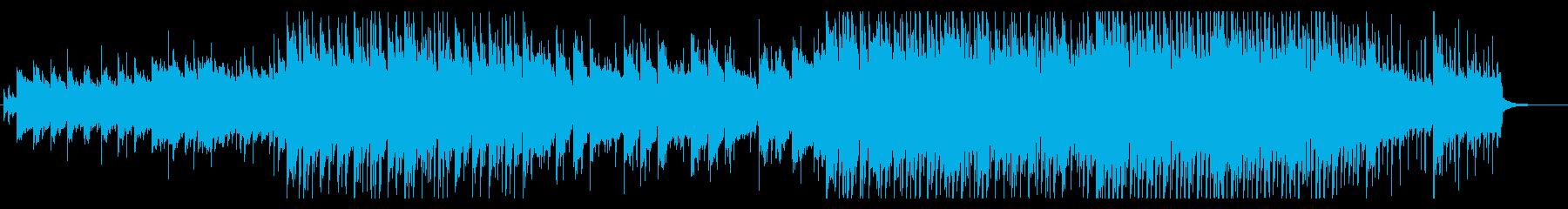 和風と中国風のエモーショナルなBGMの再生済みの波形