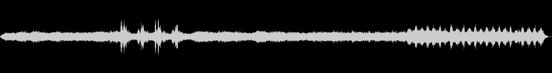 不穏なイメージのBGM、幻覚のインスト音の未再生の波形