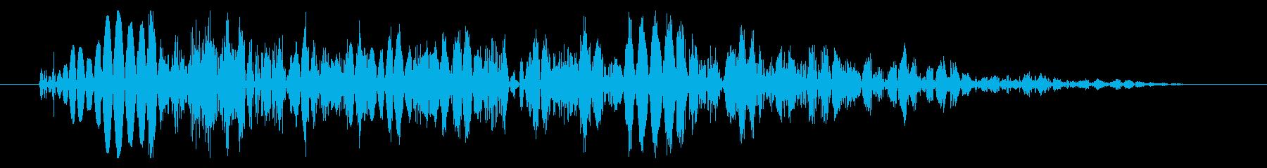 強キック 大打撃 打撃音 02Lの再生済みの波形