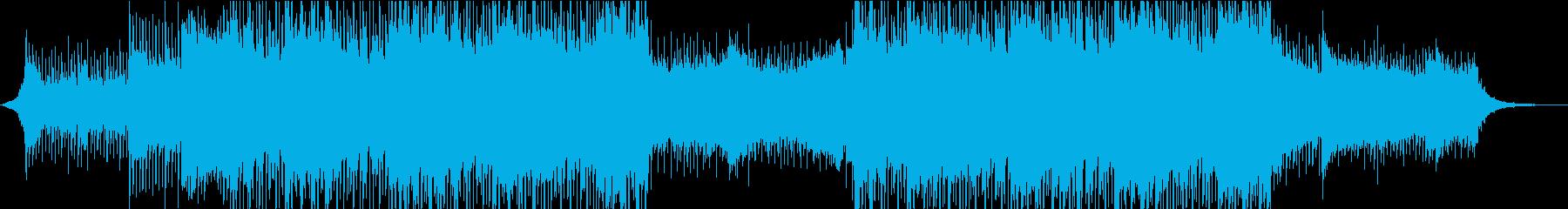 綺麗で透明感のあるコーポレート系BGMの再生済みの波形