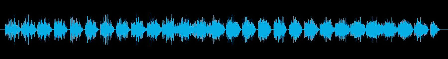 ステータスアップ(プラスのイメージ)の再生済みの波形