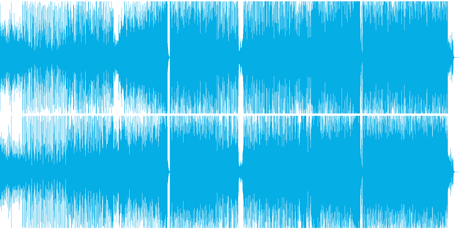VOX CHOPを使った今風のPOPsの再生済みの波形