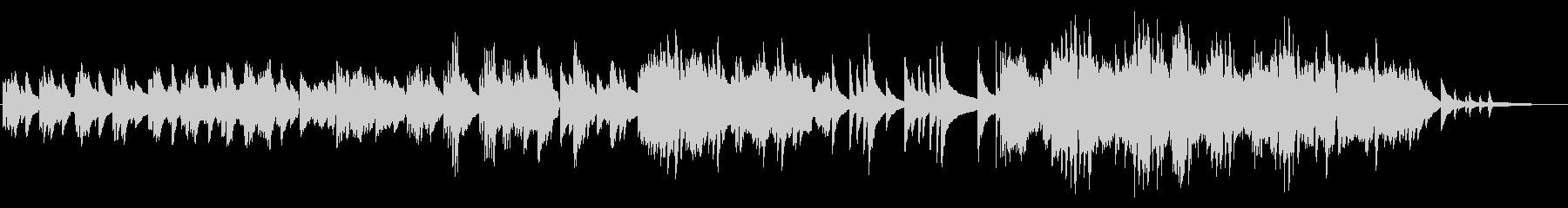 小雨の落ち着くイメージのピアノソロの未再生の波形