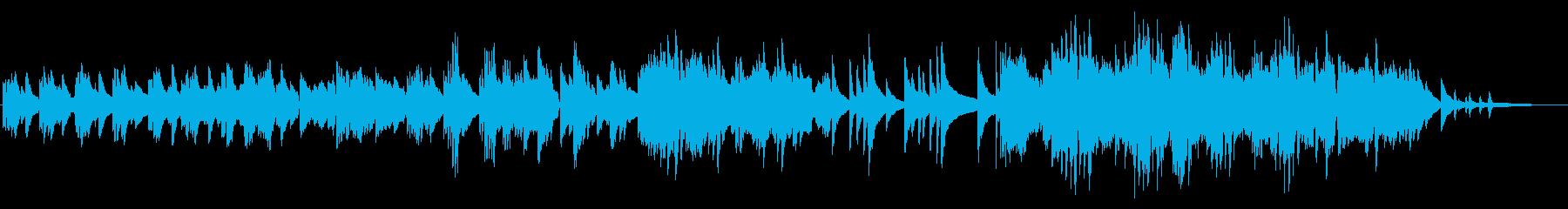 小雨の落ち着くイメージのピアノソロの再生済みの波形