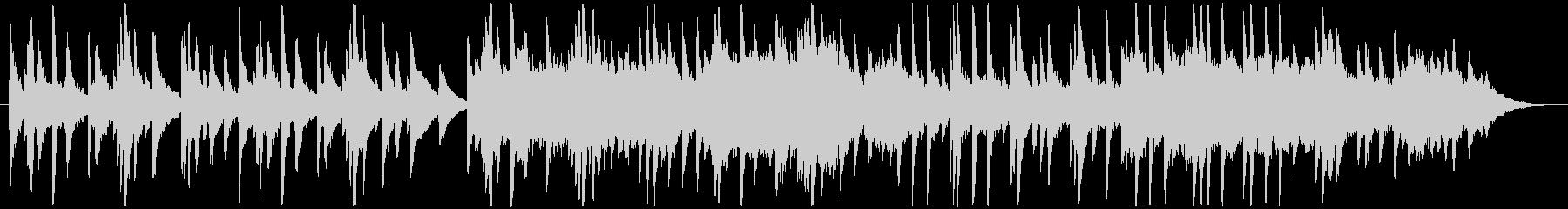 優しく穏やかなピアノメインのBGMの未再生の波形
