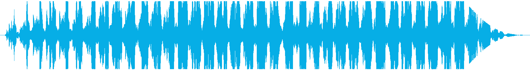 透明感のある通信音のような不思議な効果音の再生済みの波形