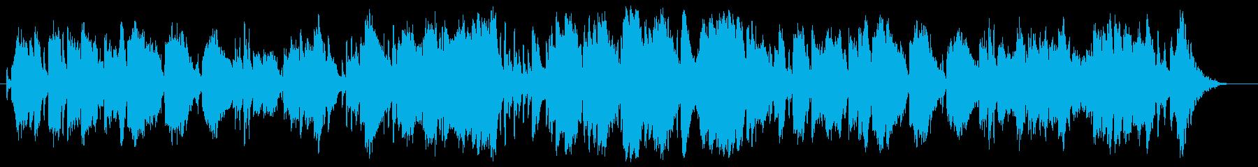 ソプラノサックスによるバッハ風BGMの再生済みの波形