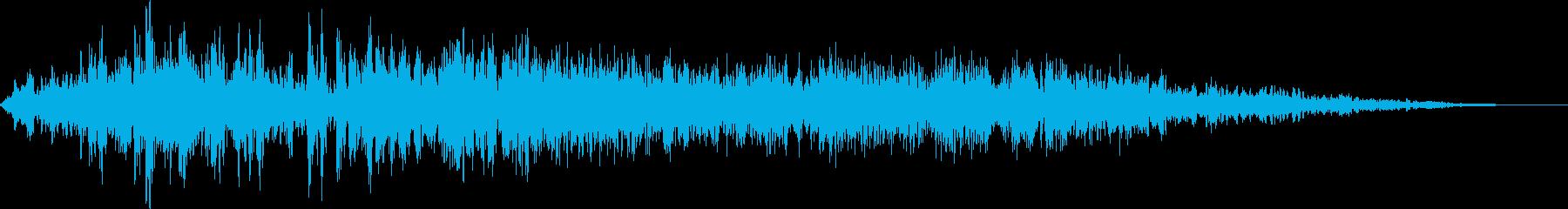 アスファルトのタイヤスキッドの再生済みの波形