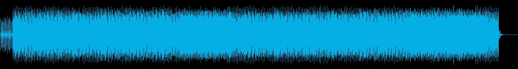 ステディなダンスビートのテクノの再生済みの波形