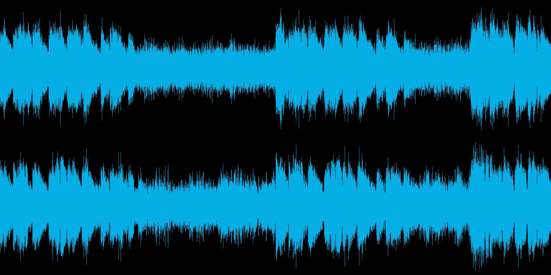 ラストダンジョンBGM風 緊迫感のある曲の再生済みの波形