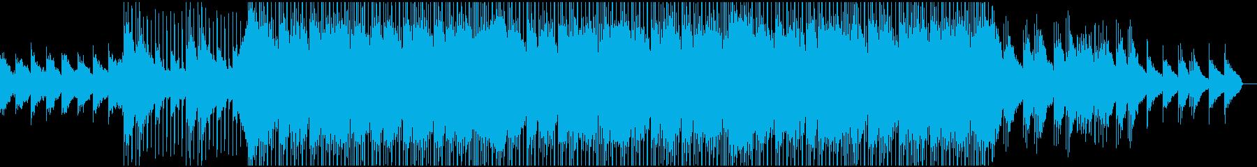 キラキラした明るく透明感のある曲の再生済みの波形
