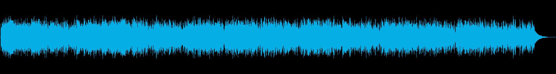 軽快なリズムのアコースティックギターの再生済みの波形