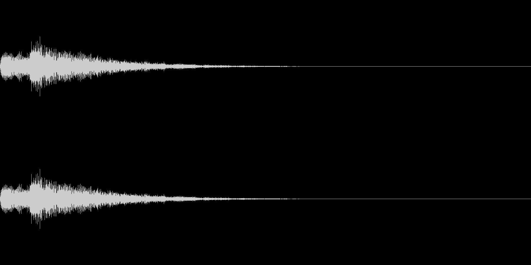 綺麗で透明感あるアタック音の未再生の波形