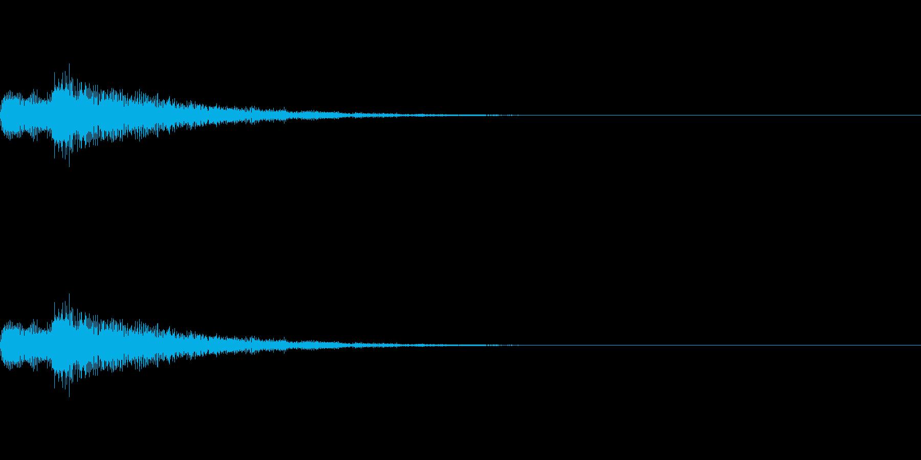 綺麗で透明感あるアタック音の再生済みの波形