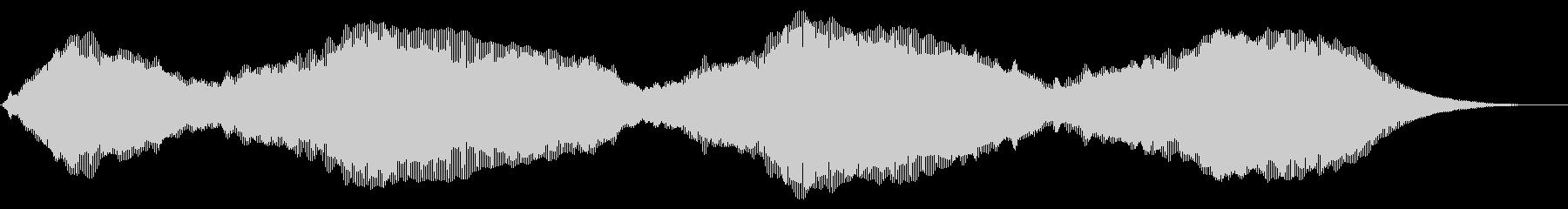 ウォームドローンの未再生の波形