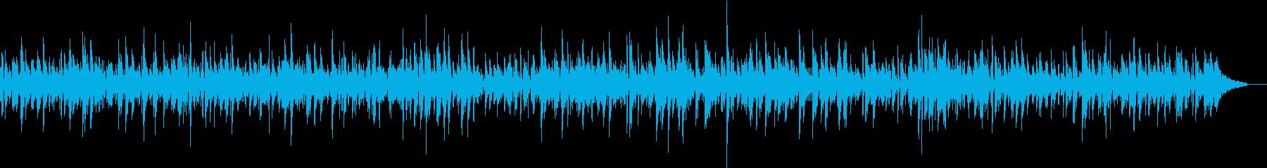 ほのぼのとしたアコギのカフェ風ボサノバの再生済みの波形