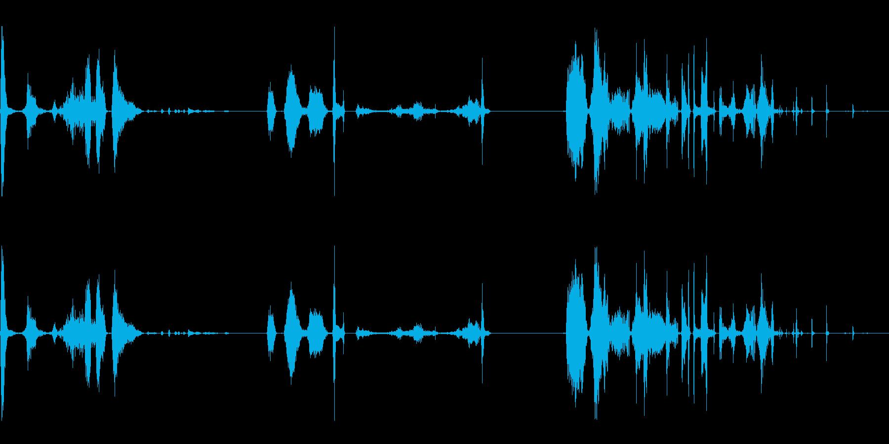 変身、変身、3つのバージョン; D...の再生済みの波形