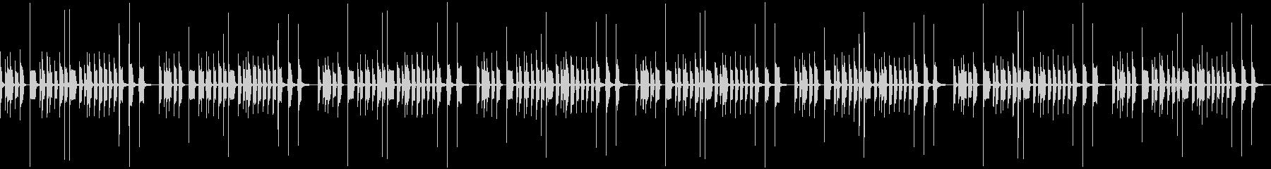 ひょうきんなイメージのBGMの未再生の波形