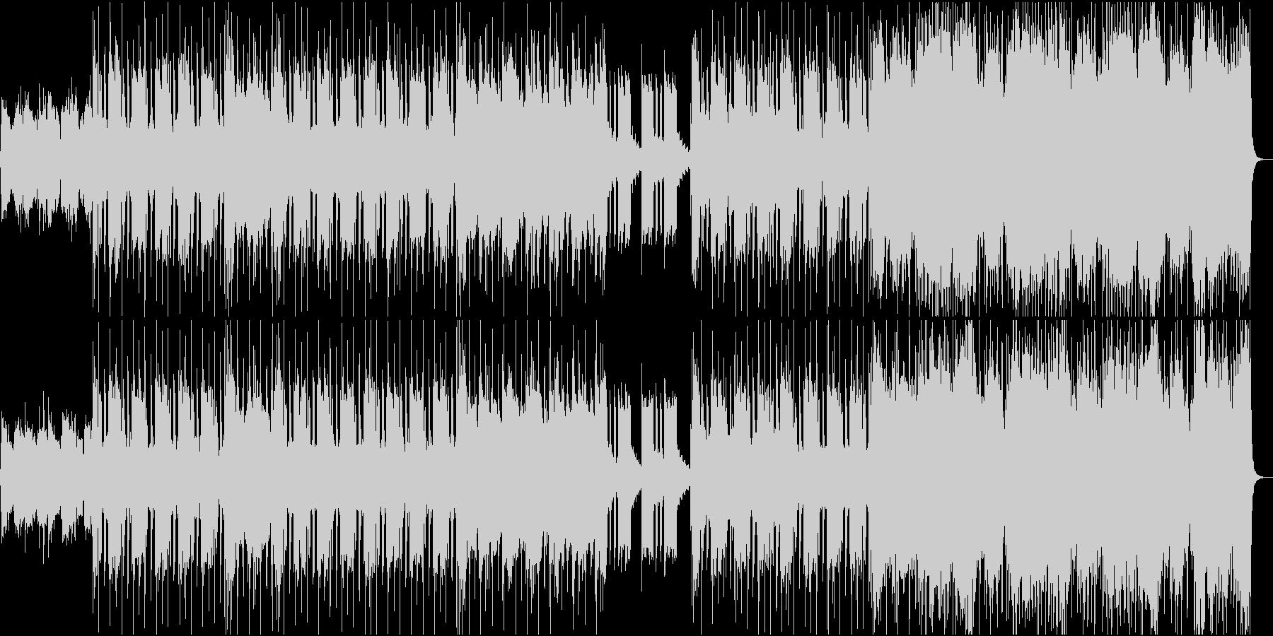 エレキギター、ベース、ドラム、シン...の未再生の波形