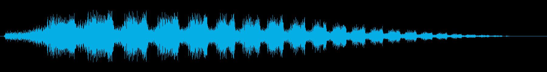 ワープする時のような音の再生済みの波形