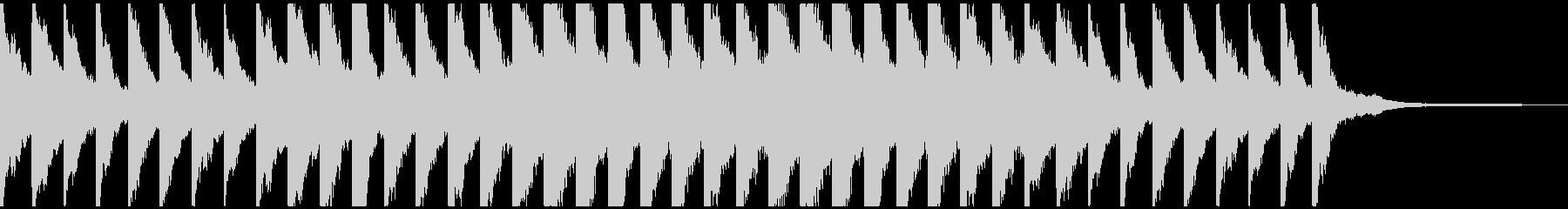 チャイムの様なピアノの未再生の波形