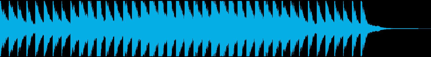 チャイムの様なピアノの再生済みの波形
