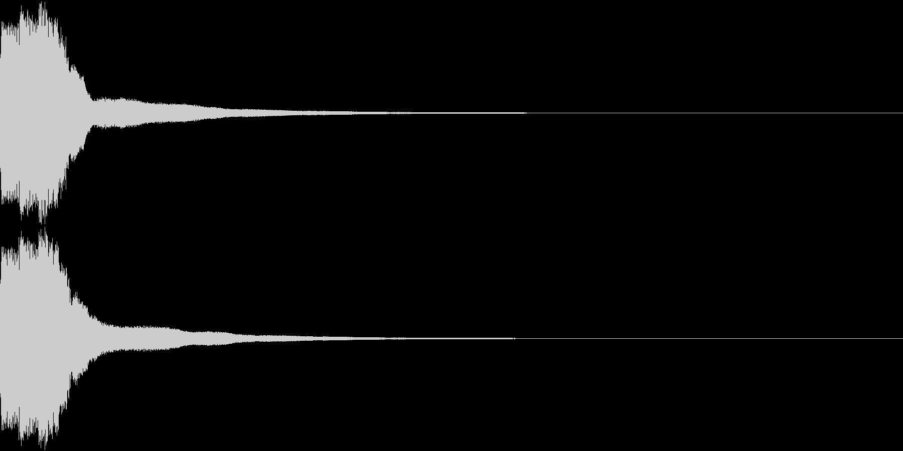 クリック キラリン 明るい 決定 02の未再生の波形