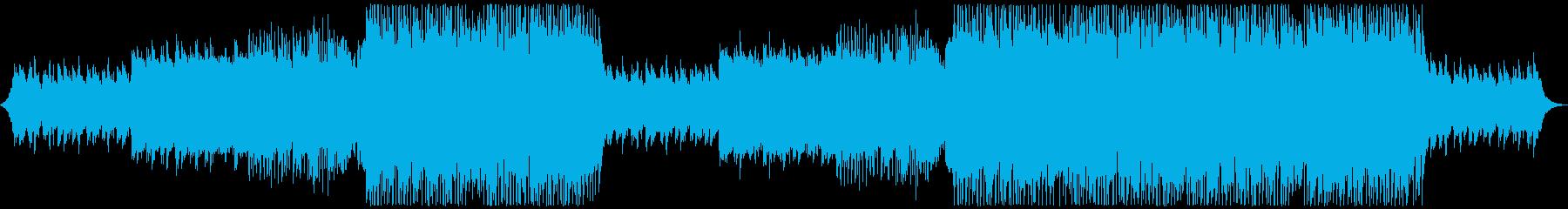パワフルで迫力のある洋楽EDMの再生済みの波形