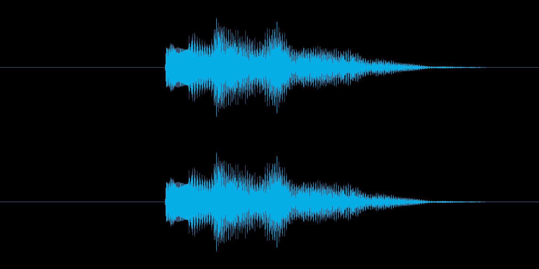 不安な音の響きのシステム効果音です。の再生済みの波形